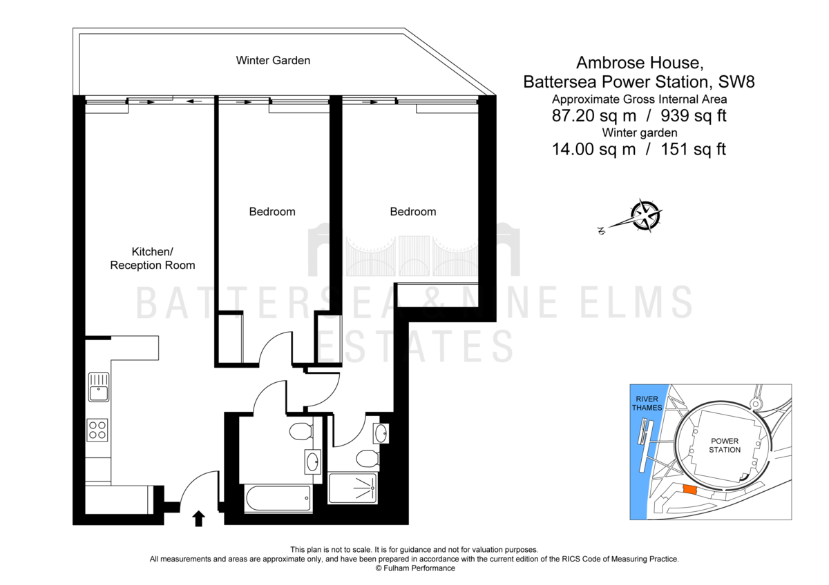 2 bedroom apartments to rent in ambrose house battersea power